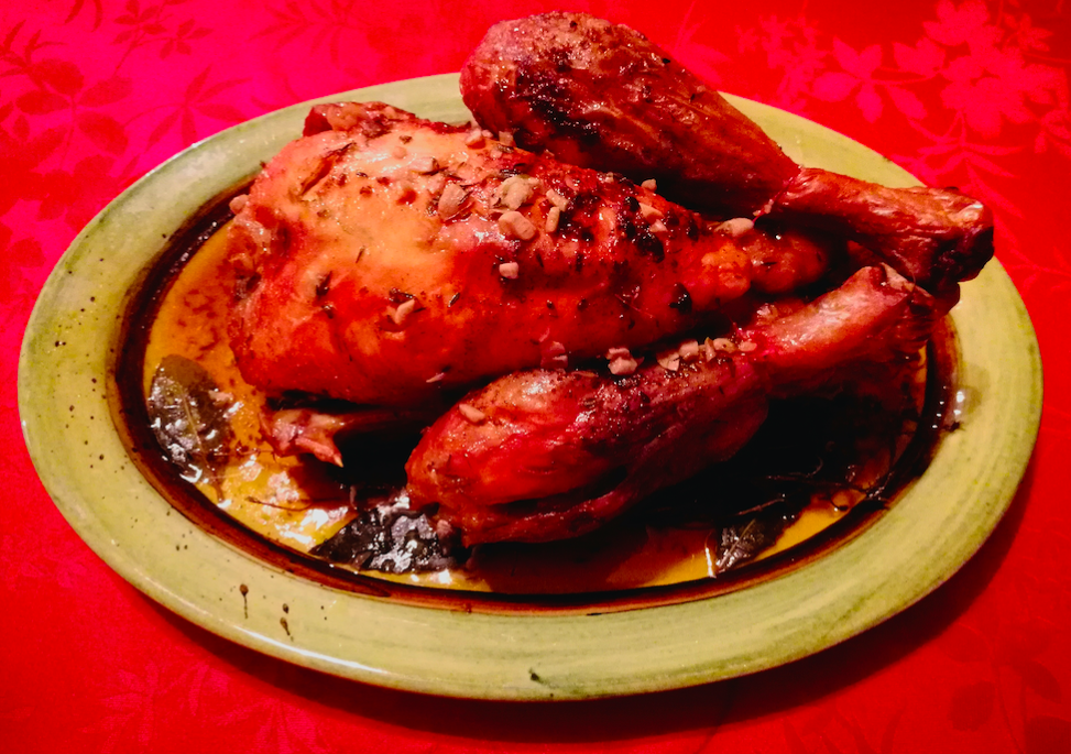 poulet fermier au four