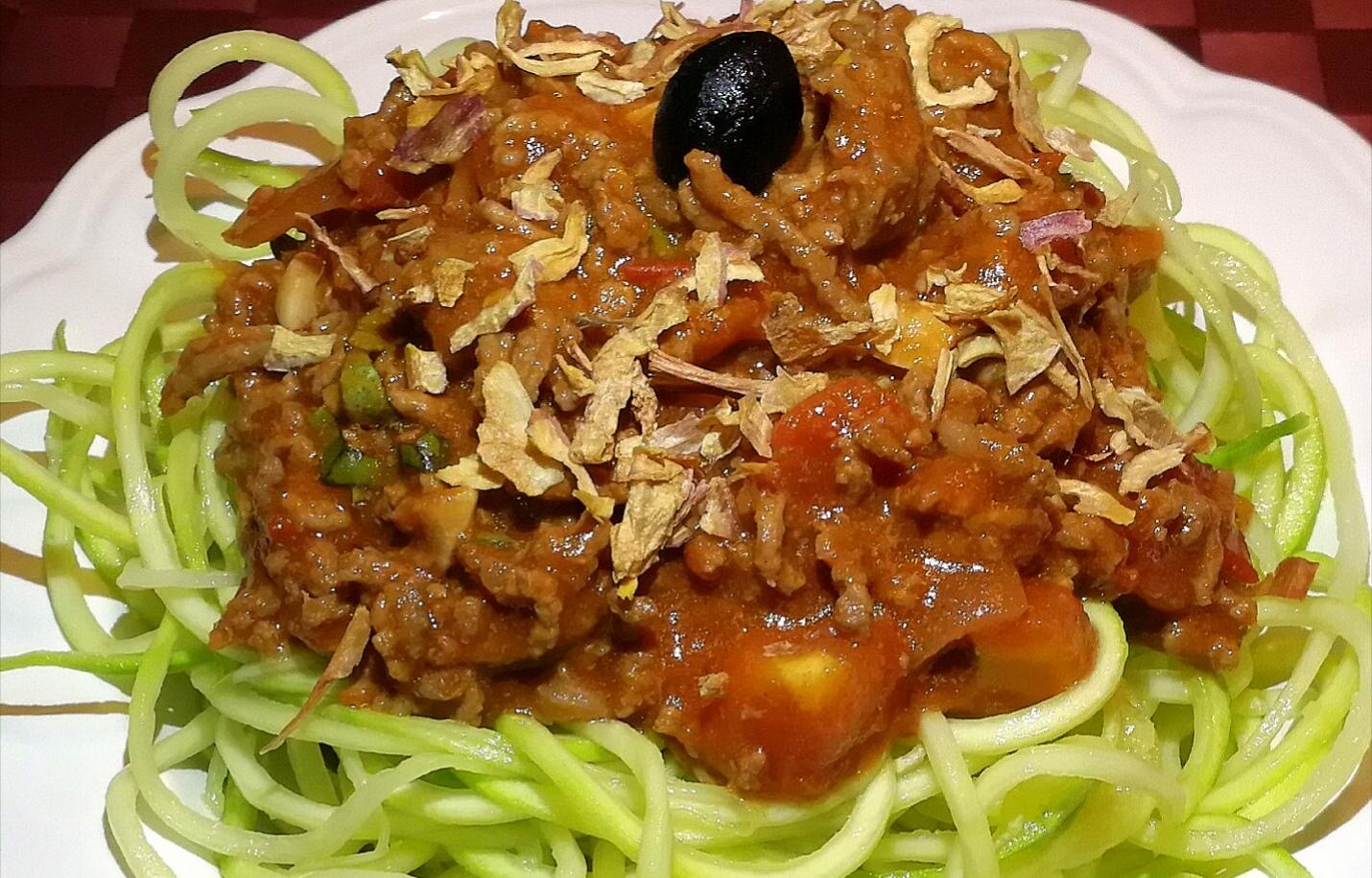 spaghettis bolognaise paleo